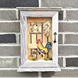 Retro Key Cabinet Do Old Solid Wood Furniture Crafts Key Box 30*21*7 cm,B