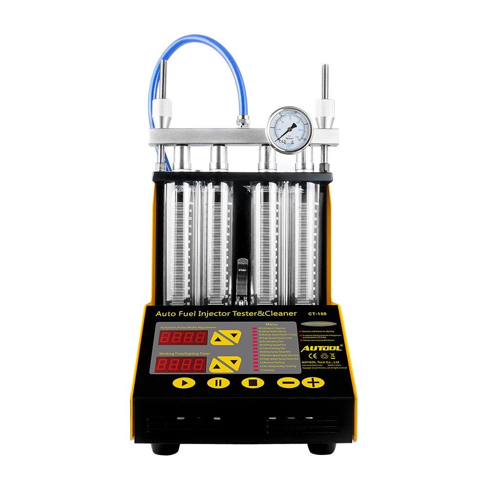 Autool CT-150 gasolina vehículo motocicleta ultrasónico limpiador de inyector de combustible probador: Amazon.es: Coche y moto