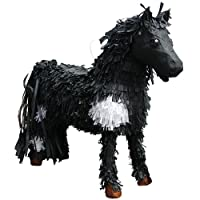 3D Horse Pinata Party Game, Decoration and Photo Prop - Black/White