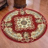 HOMEE Thickened and environmentally friendly circular carpet living room bedroom coffee table computer hanging basket rattan chair carpet (color, Size optional),80Cm,C