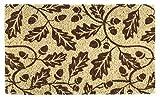 Cheap Entryways Acorns , Hand-Stenciled, All-Natural Coconut Fiber Coir Doormat 18″ X 30″ x .75″