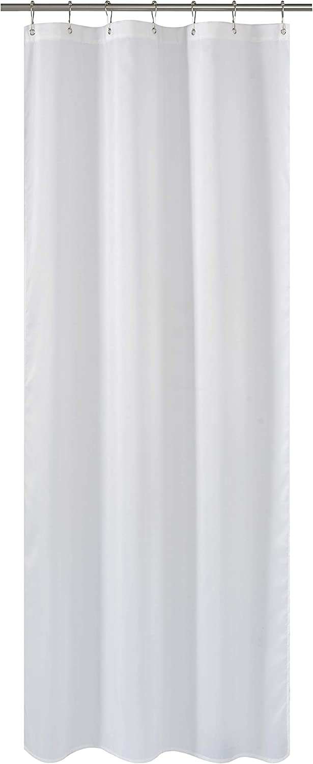 Amazon Com N Y Home Fabric Shower Curtain Or Liner 36 X 72 Inches Bath Stall Size With 2 Bottom Magnets Hotel Quality Washable Water Repellent White Spa Bathroom Curtains With Grommets 36x72 Home