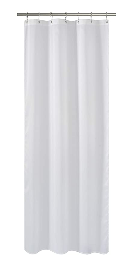 Amazon Com N Y Home Fabric Shower Curtain Liner White 36 X 72