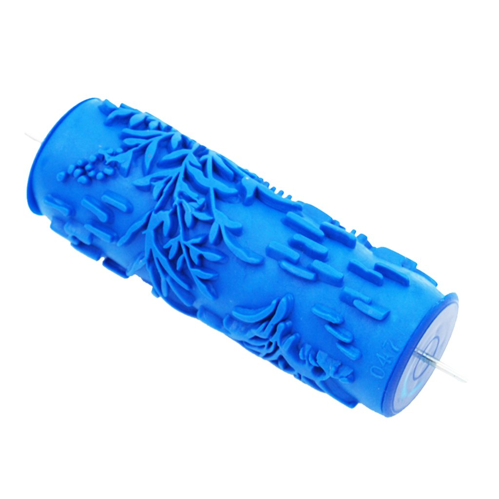 MonkeyJack 5'' DIY Embossed Floral Pattern Paint Roller Wall Art Texture Painting Brush Tool for Decoration Machine - #6, as described