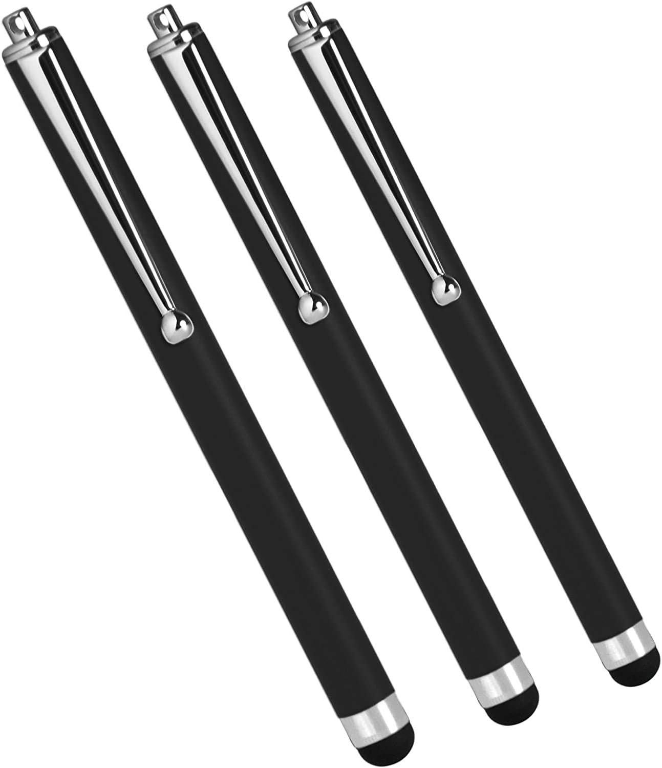 Dell Chromebook 11 (2015) Stylus Pen, BoxWave [Capacitive Stylus (3-Pack)] Stylus Pen Multi Pack for Dell Chromebook 11 (2015) - Jet Black