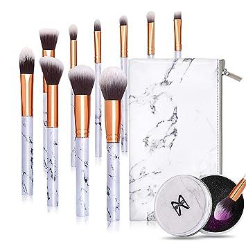 Amazon.com Makeup Brushes 10 Pieces Marble Makeup Brush Set