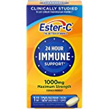 Vitamin C by Ester-C, 24 Hour Immune Support, 1000mg Vitamin C, 120 Coated Tablets