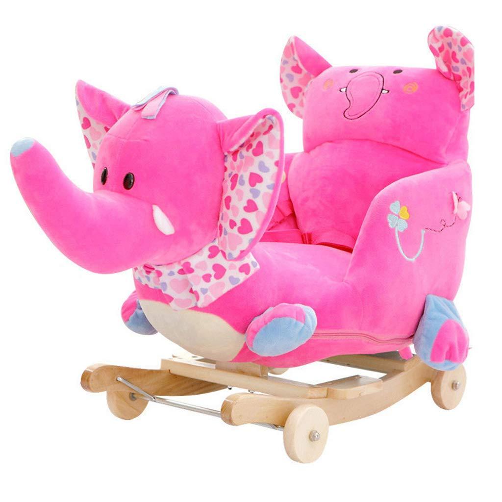Cavalli a dondolo FJH Musica Bambini Toy Trojan Baby Sedia a Dondolo in Legno massello Car Baby Baby Regalo 60  28  60cm ( Colore   B )