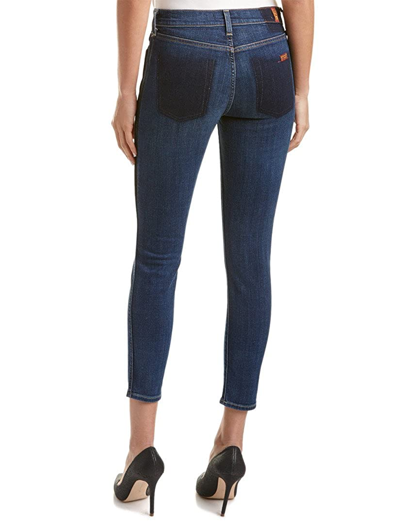 7 for All Mankind Womens Skinny Medium Wash Jean Ankle Pant