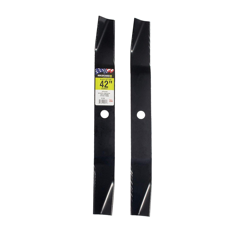 MaxPower 561298 2-Blade Set for 42 Inch Cut Murray Replaces 92418E701, 095101E701, 92418