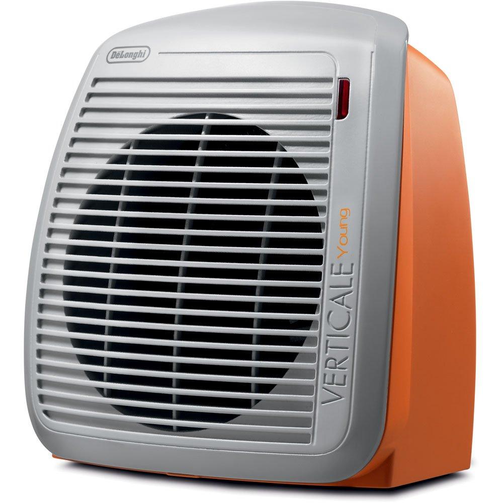 DeLonghi HVY1030OR 1500-Watt Fan Heater - Orange with Gray Face Plate