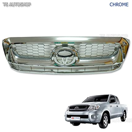 Amazon.com: Powerwarauto Front Grille Grill Chrome For ...