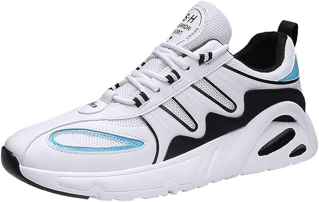 Hombres Fondo Grueso Zapatos de Malla,Ligero Zapatos Deportivos,ZARLLE Transpirable Zapatos para Correr,2019 Modelos de Pareja Zapatos Casuales,Calzado de Skateboarding para Hombre: Amazon.es: Zapatos y complementos