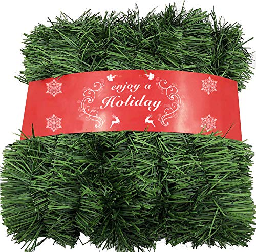 ATNKE 52 Ft Arcrylic Garland for Christmas Decorations - Non-Lit Soft Green Holiday Decor for Outdoor or Indoor Use - Premium Quality Home Garden Artificial Greenery, or Wedding Party Decorations 1pc -