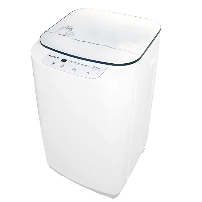 kapas kps35-735h2 upgraded compact washing machine, fully automatic 2-in-1 washer and spin dryer machine build-in pump and long hose, 8 lbs. capacity 8 lbs. top load tub washer Best All-in-One Washer Dryer Combo Machines