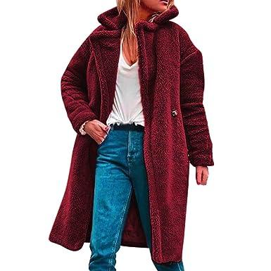 Amazon.com: Chaqueta de forro polar para mujer Fuzzy, abrigo ...