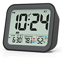 Digital Alarm Clock for Bedroom, Dual Alarm Clock with Workdays/Weekends Setting,Battery Operated, Snooze, Small Travel…