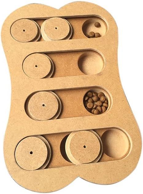 Luxugen bois Chien puzzle Feeder Distributeur de friandises