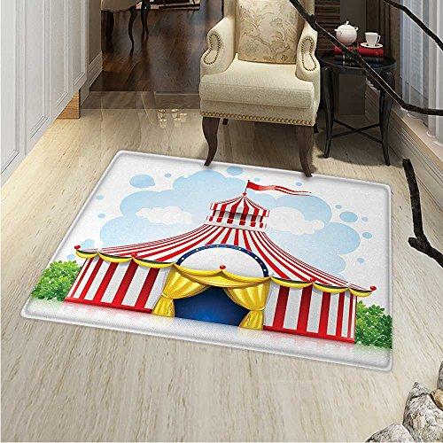 Circus Decor Customize Floor mats Home Mat Striped Strolling
