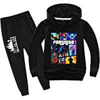 Youth Fashion Games Pullover Hoodie Suit for Boys Girls 2 Piece Outfit Fashion Sweatshirt Set