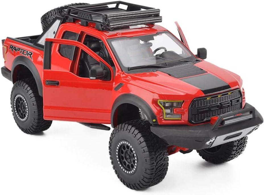 Color : Red LICCC Mod/èle de Voiture Ford F150 Raptor SUV SUV camionnette 1:24 Simulation Alliage Voiture de Jouet en Alliage