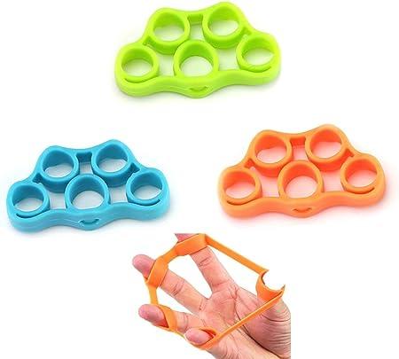 UMEI 3 piezas de estirador de dedos, ejercitador de mano, agarre de dedo, fortalecedor de guitarra, escalada, entrenamiento, articulaciones