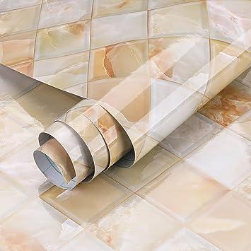 KINLO 500X61CM Carta Autoadesiva Marmo per Armadi Mobili da Cucina più  Bella Adesivi Muro Impermeabile PVC Adesivo Mobili Pellicola Adesiva per ...