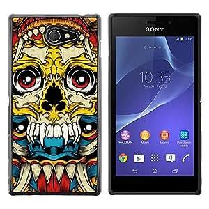 Be Good Phone Accessory // Dura Cáscara cubierta Protectora Caso Carcasa Funda de Protección para Sony Xperia M2 // Graffiti Tattoo Art Ink Metal Death Hard
