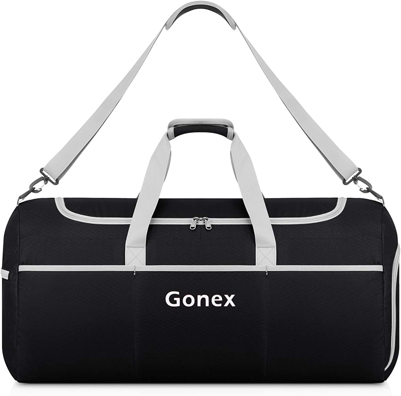 Gonex 50L Packable Travel Duffle Lightweight Luggage Duffel Sports Gym Bag Black
