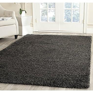 Safavieh Milan Shag Collection SG180-8484 Dark Grey Area Rug, 5 feet 1 inches by 8 feet (5'1  x 8')