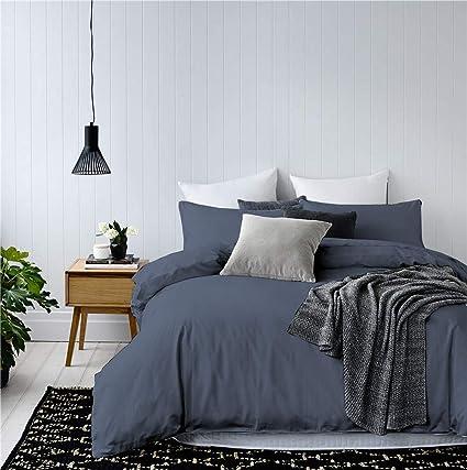 Amazoncom 3 Pieces Navy Bedding Navy Blue Duvet Cover Set