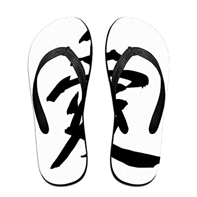 Creative Love Chinese Symbol Logo Unisex Fashion Beach Flip Flops Sandals Slippers Sandal For Home & Beach