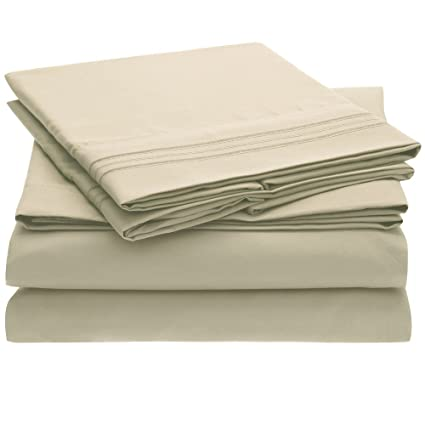 764d35db5d Image Unavailable. Image not available for. Color: Ideal Linens Bed Sheet  Set - 1800 Double Brushed ...