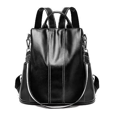 264001f68c Anti-theft Women Backpack Purse Travel Rucksack Vintage Shoulder Bag for  Women(Black)