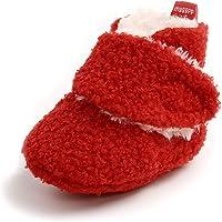 Amazon Price History:Newborn Baby Boys Girls Cozy Fleece Booties Anti-Slip Socks Soft Sole Toddler Warm Winter First Walkers Crib Shoes
