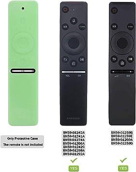 Funda para el Mando a Distancia Case Samsung 4K UHD Smart TV SIKAI Antideslizante de BN59-01259B BN59-01242A Silicona Carcasa Funda Case con Cordón respetuosa con el Medioambiente (Luminoso Verde): Amazon.es: Electrónica