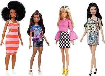Barbie Fashionistas coffret 4 poupées mannequin
