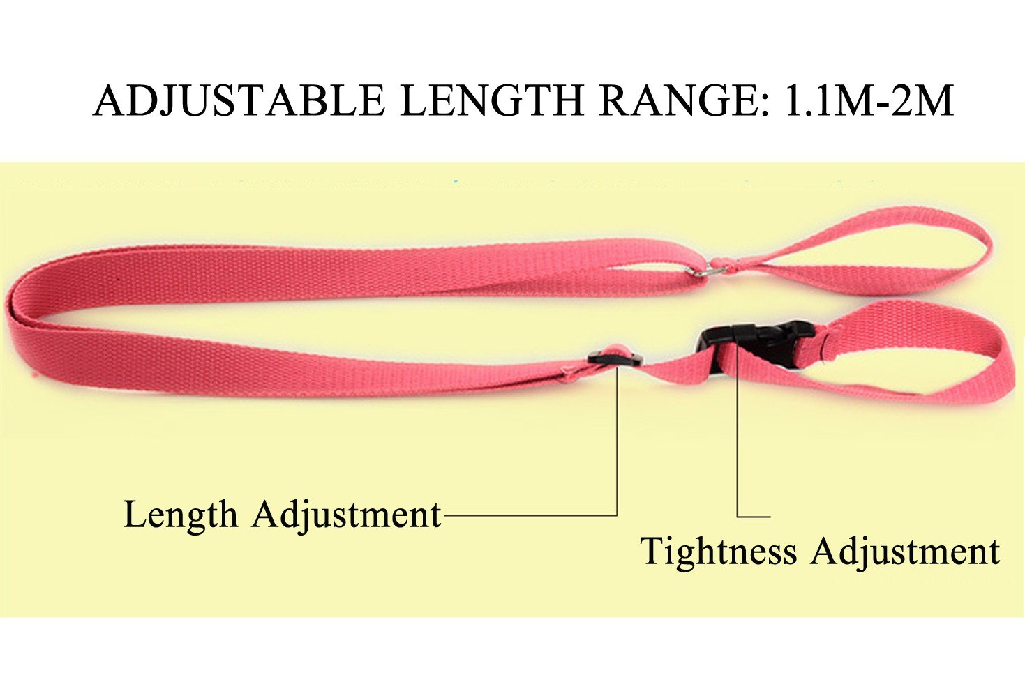 2M- 3 Pack Cotton Outdoor Backpack Leash Child Safety Traction Rope Summer Anti-lost Wristband Belt Safety Harness Toddler Walking Assistant