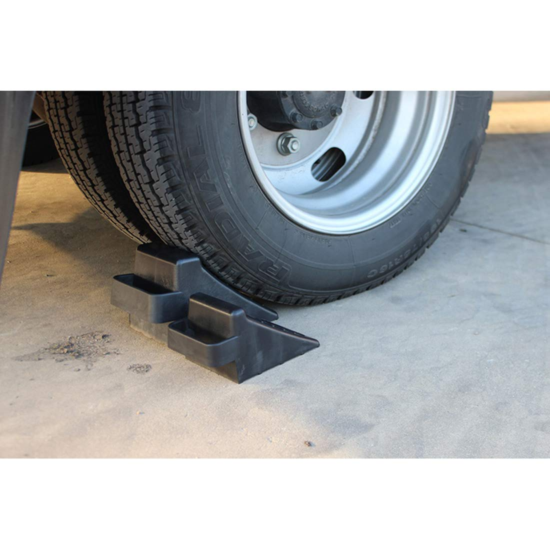 GB 2PCS of Tire Crutch Wheel Chocks for Car Truck Stopper Block Set (Large) by [GBOEM] (Image #6)