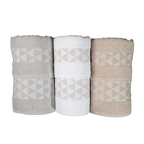 Botticelli Home Juego toallas rizo 3 + 3 – Estrella Triángulo Patos Ass.A