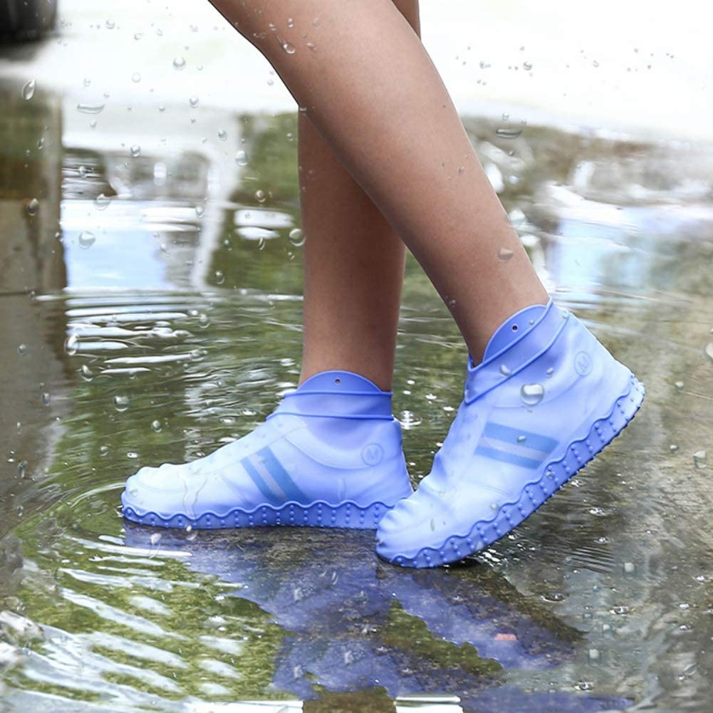 Washable Shoe Cover Foot Protectors For Indoor And Outdoor Use Yalatan Thicken Waterproof Boot And Shoe Cover Non-Slip Silicone Rain Socks Shoe Cover