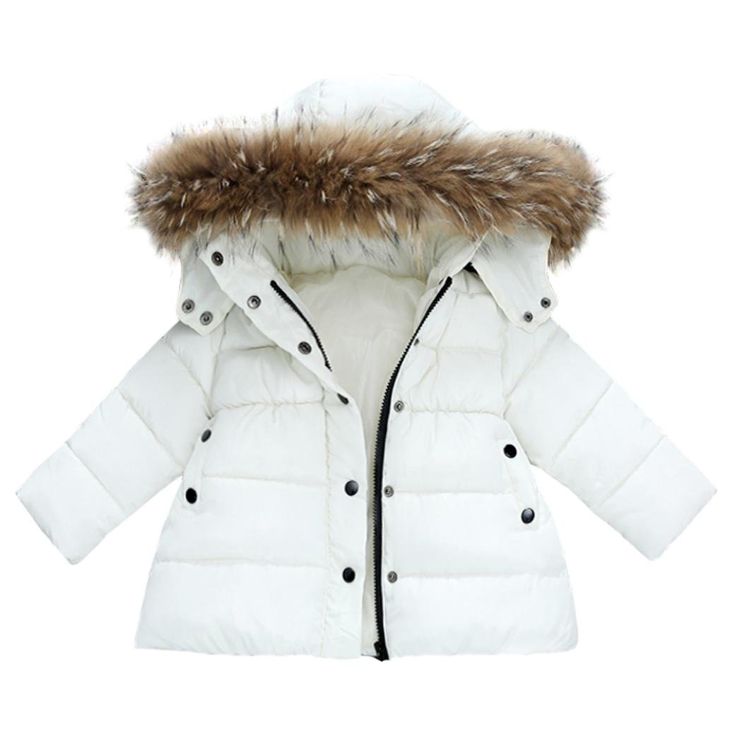 102d47bf200a Vovotrade® Toddler Girls Winter Warm Solid Hooded Coat Newborn Thick ...