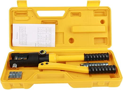 10T Hydraulic Wire Battery Cable Lug Terminal Crimper Crimping Tools Kit US BEST
