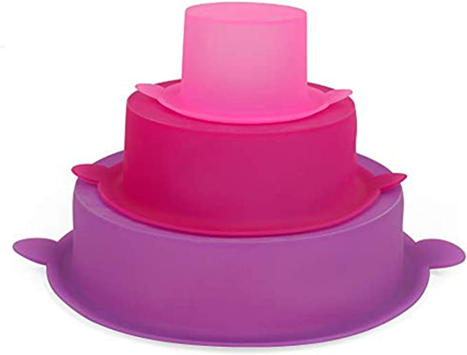 Christmas Party 3 Tier Round Cake Pan Set Silicone Cake Molds Baking Tray for Birthday Wedding Anniversary Halloween