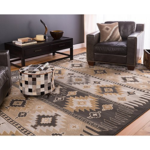 Bold Geometric Medallions Patterned Area Rug, Bright Exotic