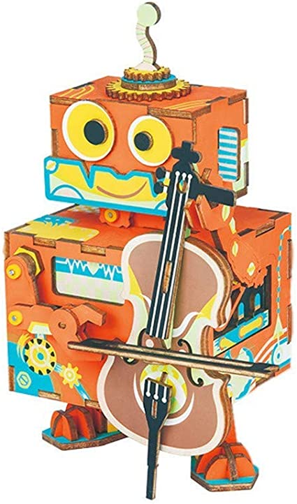 WANNA.ME DIY 3D Robot Rompecabezas de Madera Juego de ensamblaje ...