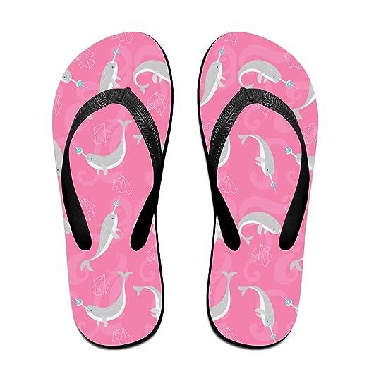 Doughnut Narwhal Unisex Fashion Beach Sandals Classical Flip Flops Thong Sandals