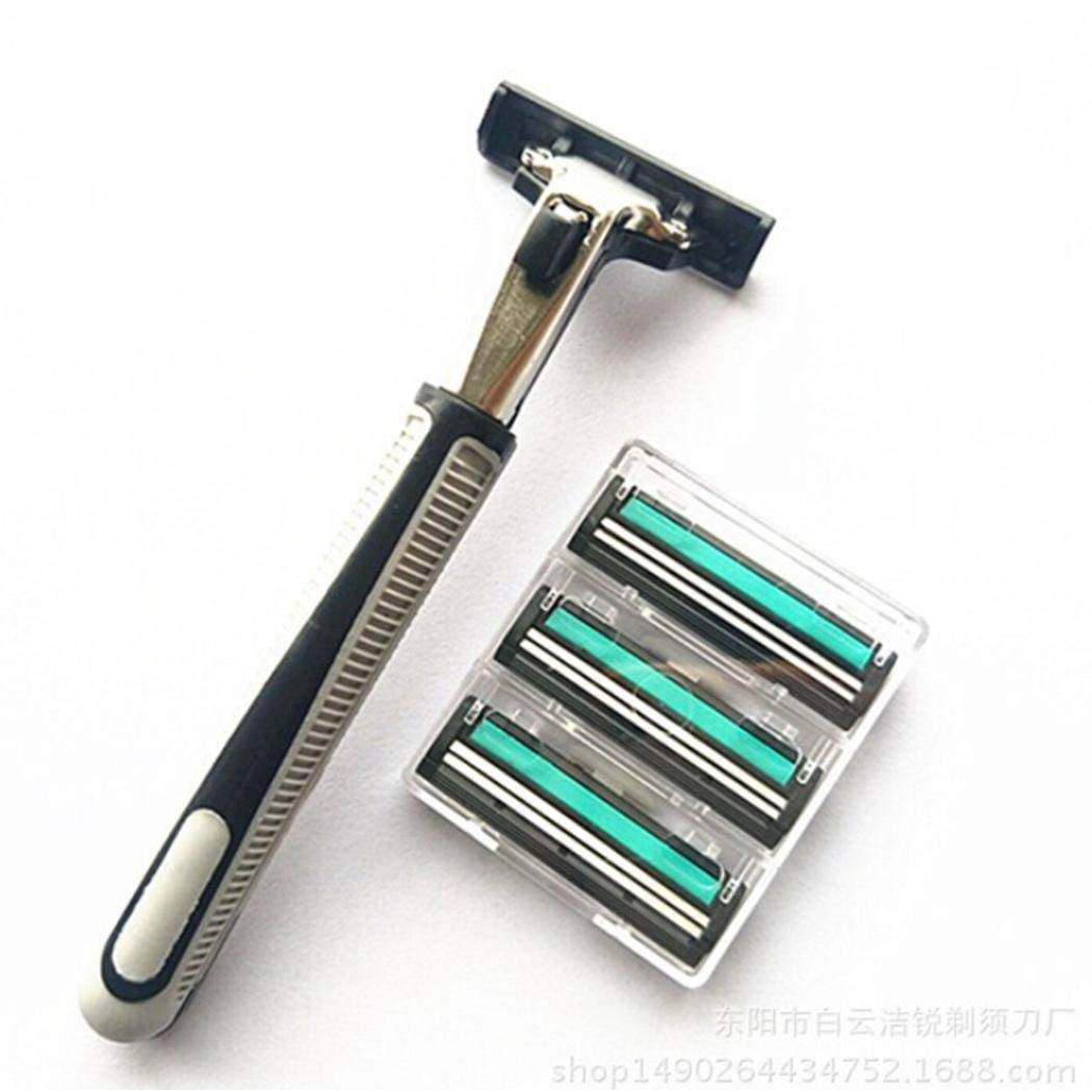 Miuniu 12 Pcs Men Shaving Razor Blades Knives Razor Blade Face Care Tools Cartridges & Refills