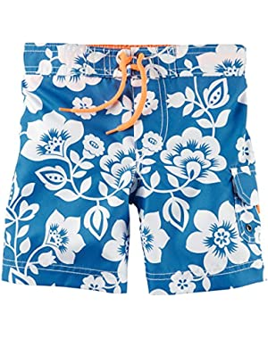 Carter's Baby Boy's Tropical Print Swim Trunks 18M Blue