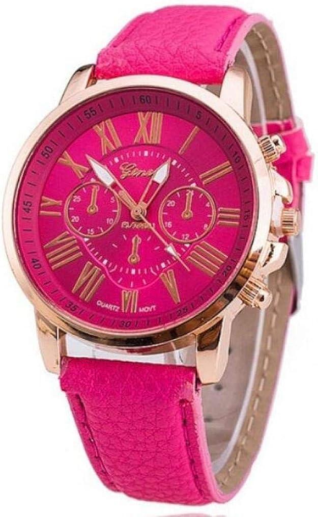 Marca Cuero Reloj de Cuarzo Mujeres Hombres señoras Moda Pulsera Relojes de Pulsera Reloj relogio Feminino